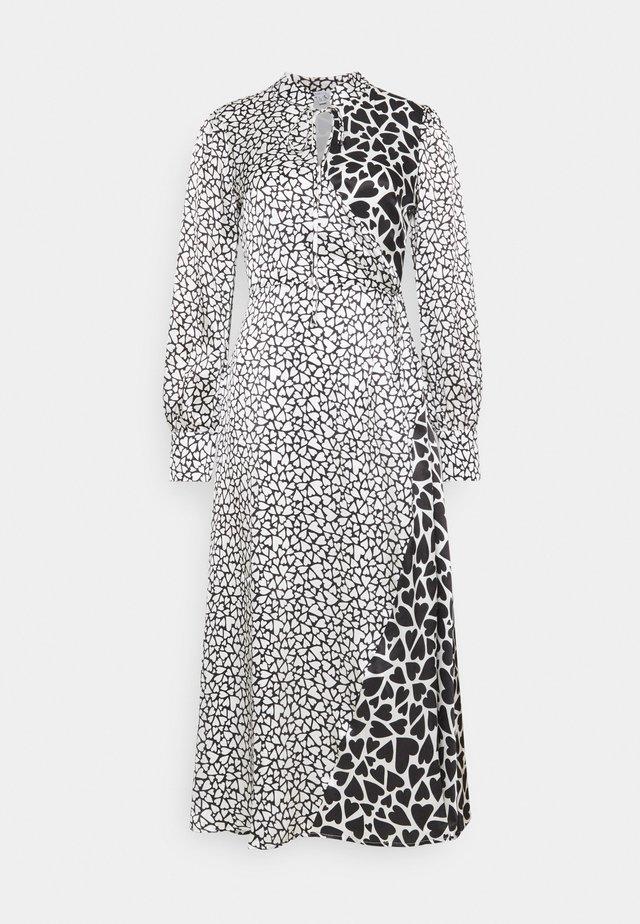 NELL DRESS - Maxikjole - black / white