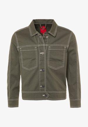 LANGARM - Denim jacket - khaki green