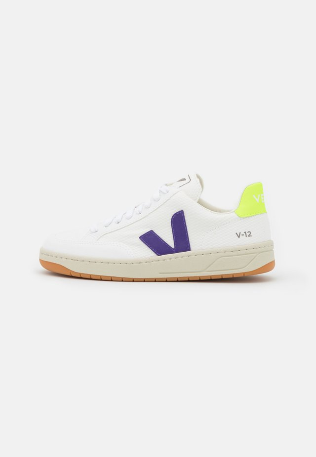 VEGAN V-12 - Sneakers laag - white/purple/jaune fluo
