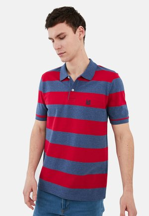 SHORT SLEEVE - Polo shirt - red/blue