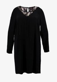 Zizzi - XGRENADINE DRESS - Robe d'été - black - 4
