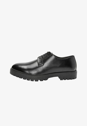 HIGH SHINE CLEATED - Lace-ups - black