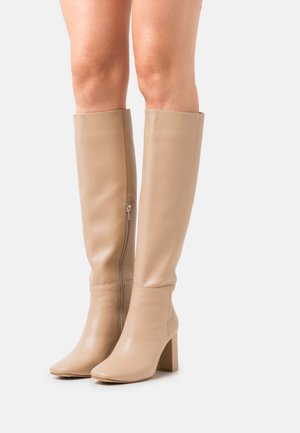 KNEE HIGH BOOTS - Boots - beige