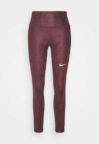 Nike Performance - RUN FAST - Leggings - dark wine/black/reflective silver - 0