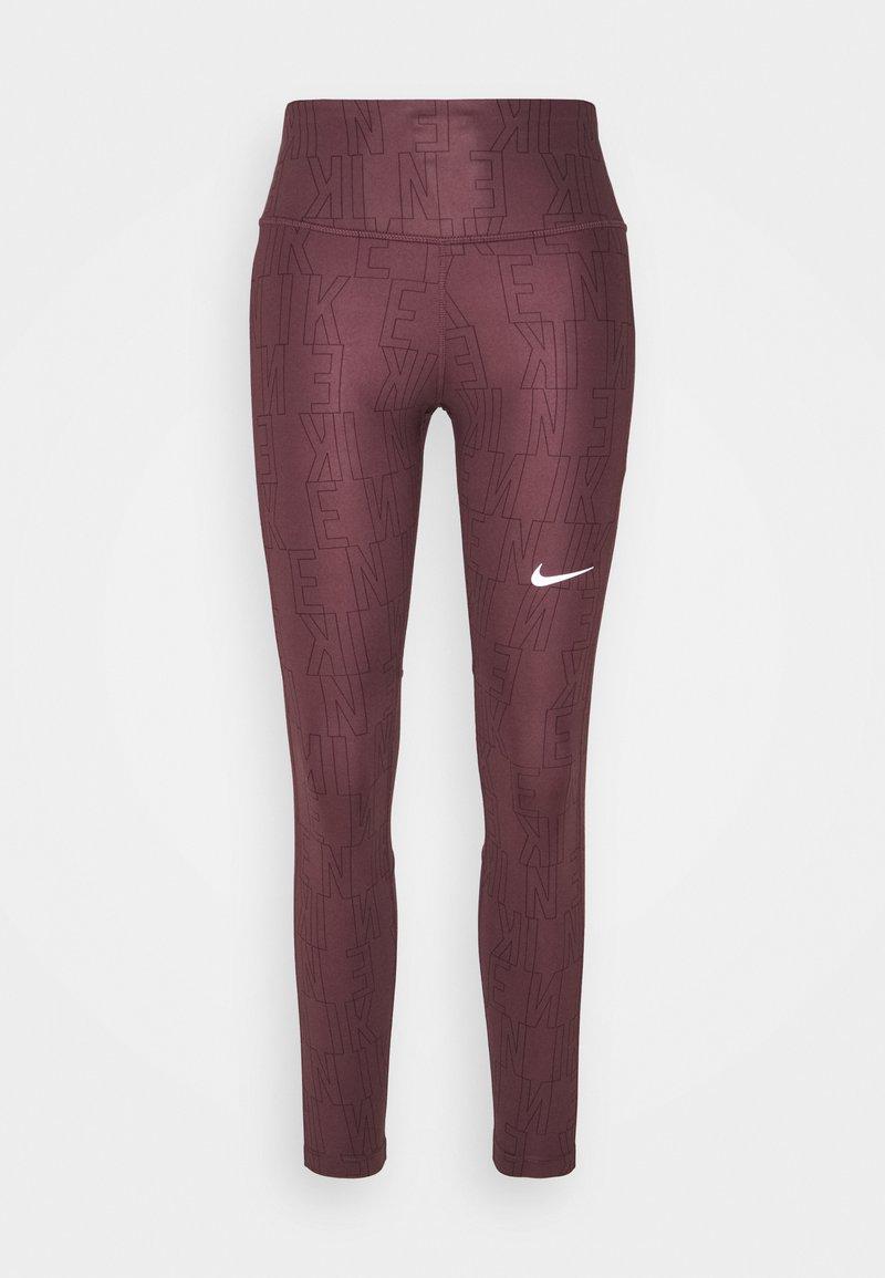 Nike Performance - RUN FAST - Leggings - dark wine/black/reflective silver