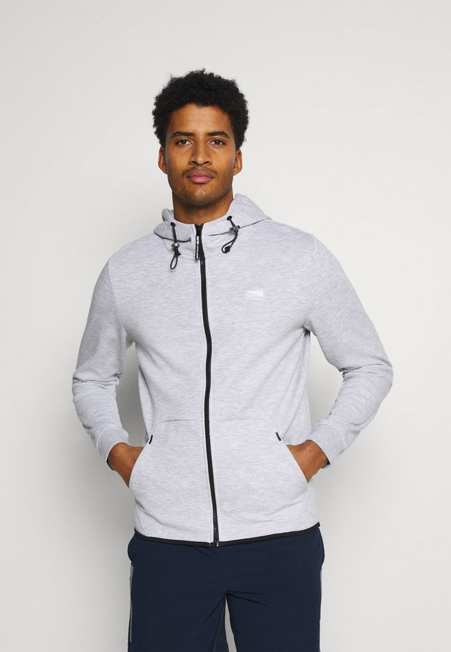 JCOAIR ZIP HOOD - Felpa aperta - light grey melange