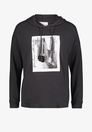 Hoodie - schwarz/weiß