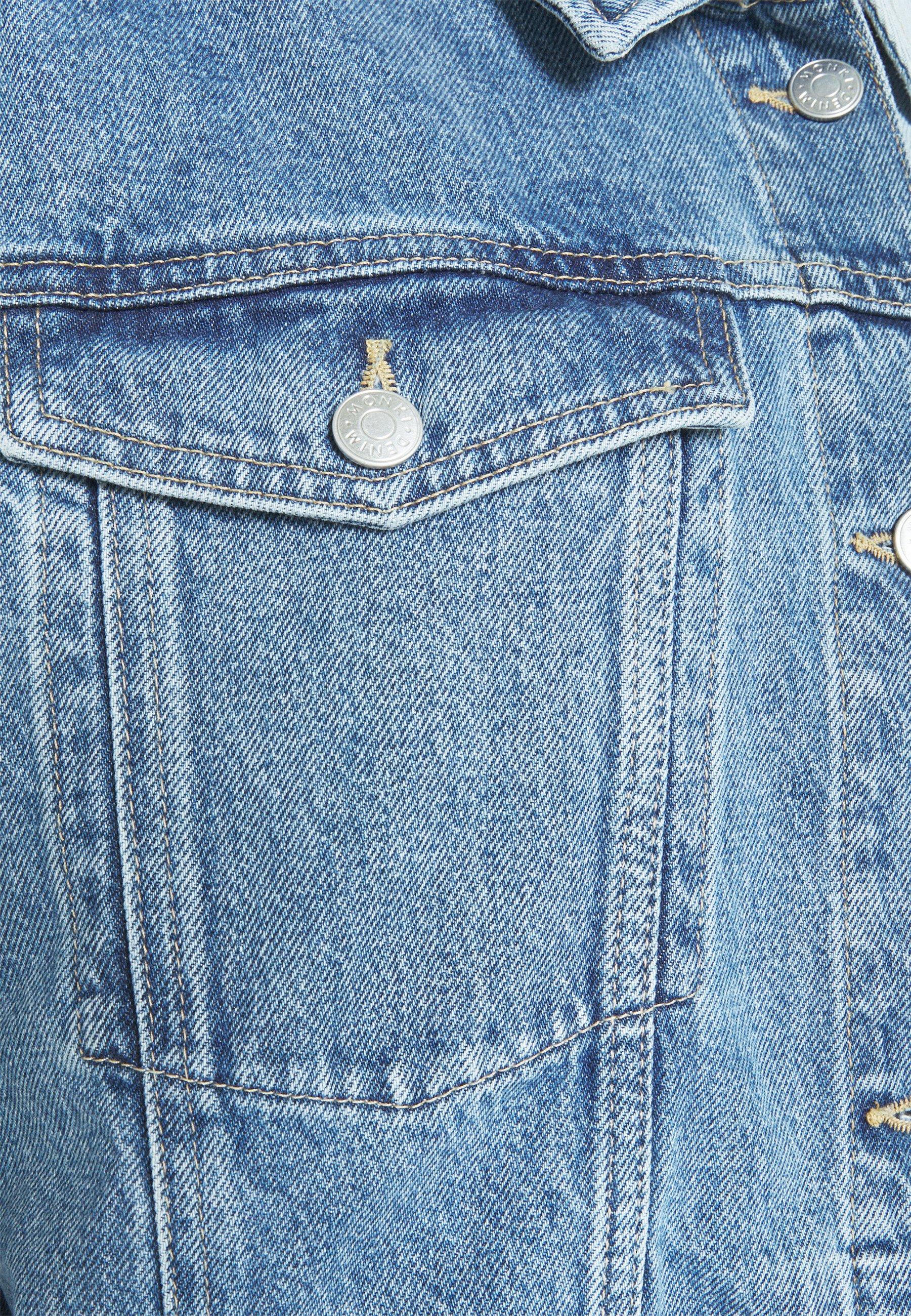 Women Denim jacket - blue dusty light