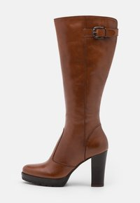 Anna Field - LEATHER - High heeled boots - cognac - 1