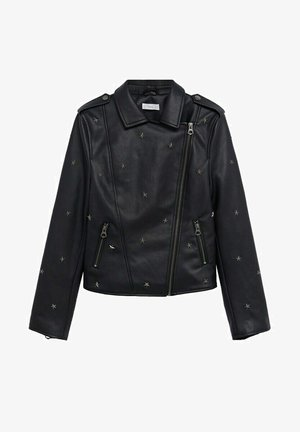 STAR - Faux leather jacket - schwarz