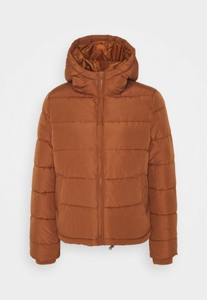 PCBEE SHORT JACKET - Chaqueta de invierno - brown