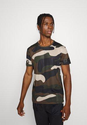 T-Shirt print - olive/multi-coloured