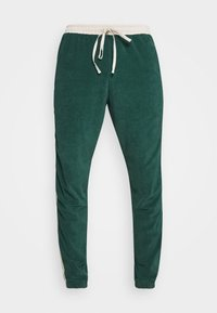 WRSTBHVR - TRACKPANTS LOUNGIN - Tracksuit bottoms - green/off white - 6