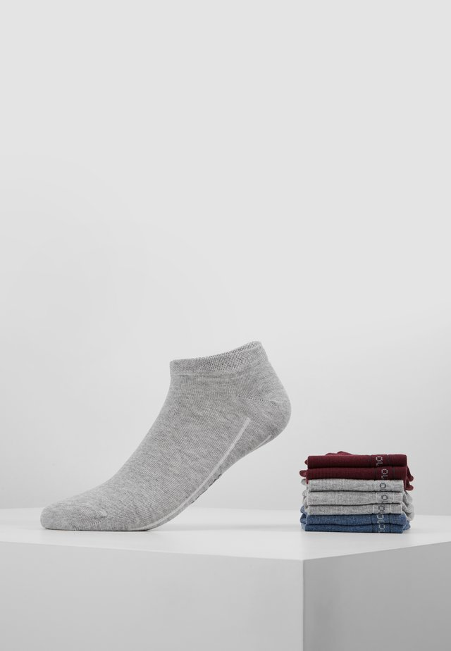SOFT SNEAKER BOX 7 PACK - Calcetines - bordeaux