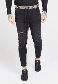 SIKSILK - ELASTICATED WAIST DISTRESSED - Jeans Skinny - black - 4
