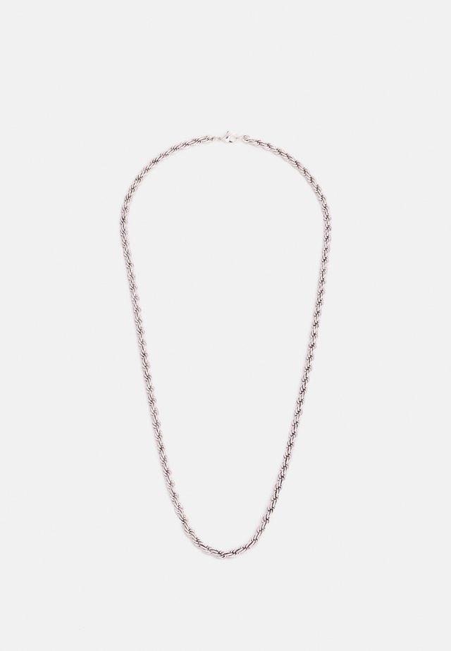TWIST CHAIN NECKLACE - Collana - silver-coloured