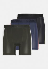 Björn Borg - PANEL SHORTS 3 PACK - Tights - black beauty - 0