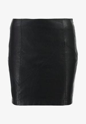 NMREBEL SKIRT - Mini skirt - black