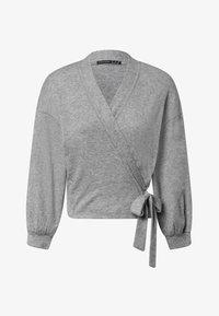 OYSHO - WRAP - Cardigan - light grey - 5
