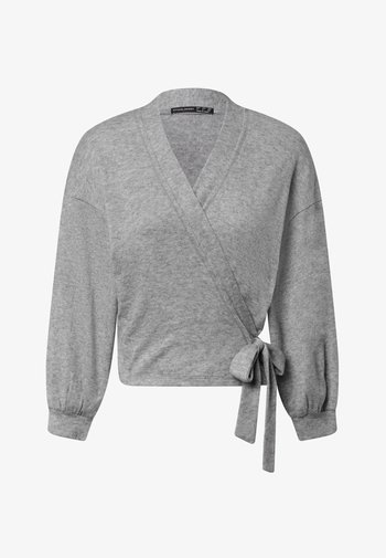 WRAP - Cardigan - light grey