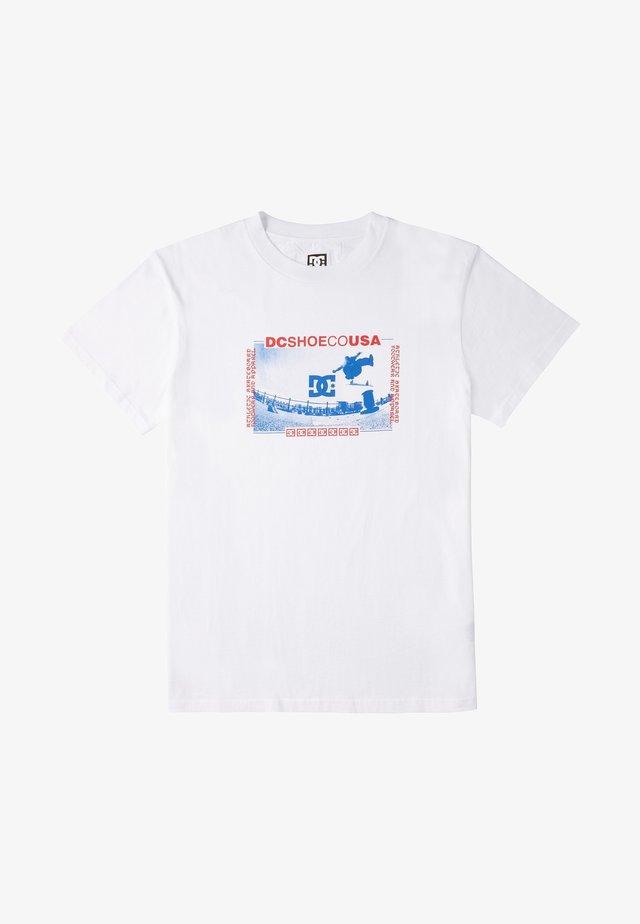 OLZE - Print T-shirt - white