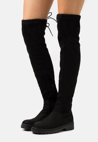 New Look - CALCUTTA STRETCH CHUNKY - Over-the-knee boots - black - 0