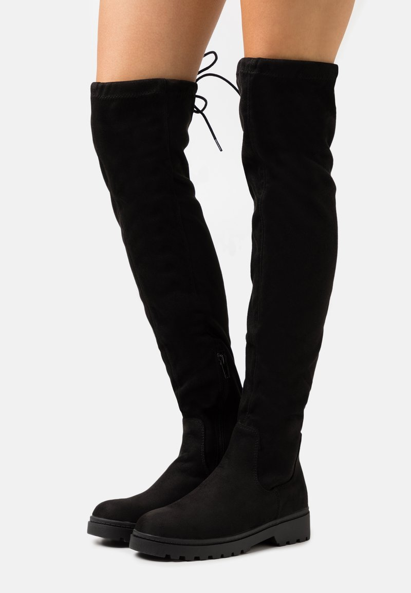 New Look - CALCUTTA STRETCH CHUNKY - Over-the-knee boots - black