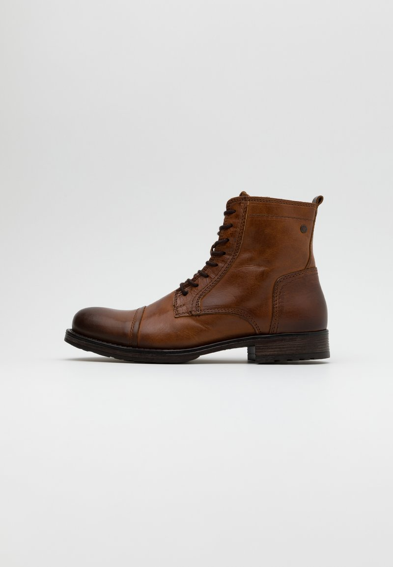 Jack & Jones - JFWRUSSEL WARM  - Lace-up ankle boots - cognac