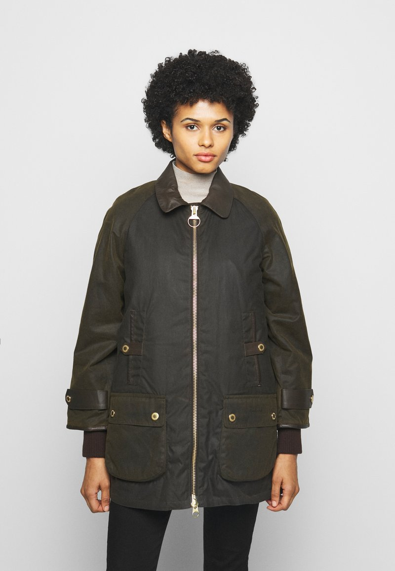 Barbour - NORWOOD WAX - Short coat - olive classic