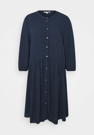 WITH BUTTON DOWN PLACKET - Shirt dress - real navy blue