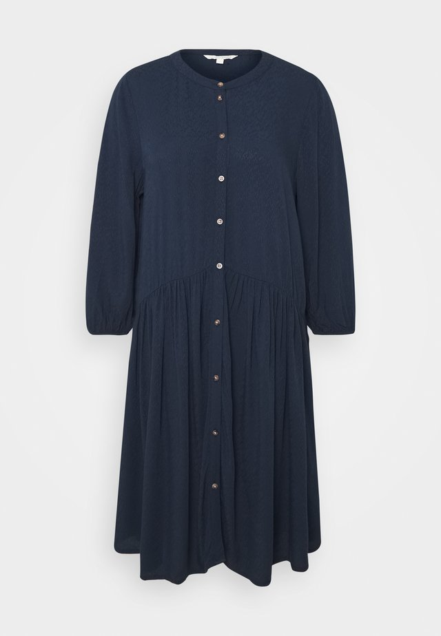 WITH BUTTON DOWN PLACKET - Blusenkleid - real navy blue