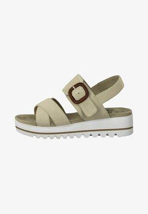 Sandaletter med kilklack - beige