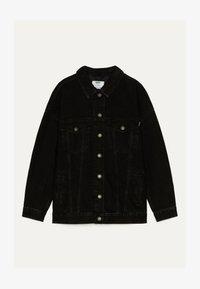 Bershka - OVERSIZE-JEANSJACKE 01110335 - Kurtka jeansowa - black - 4