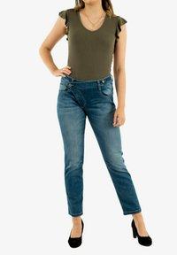 PLEASE - Slim fit jeans - bleu - 1