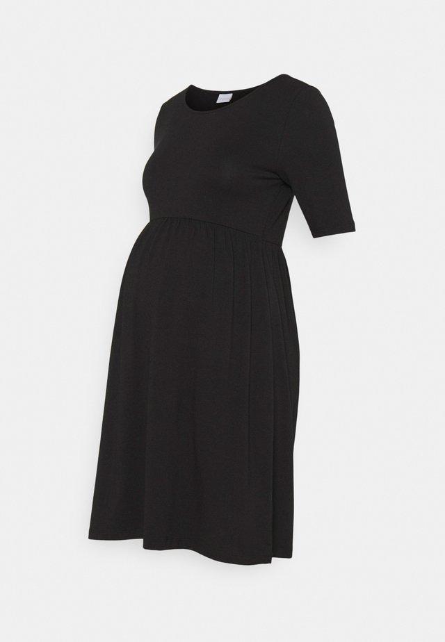 MLELNORA SHORT DRESS - Žerzejové šaty - black