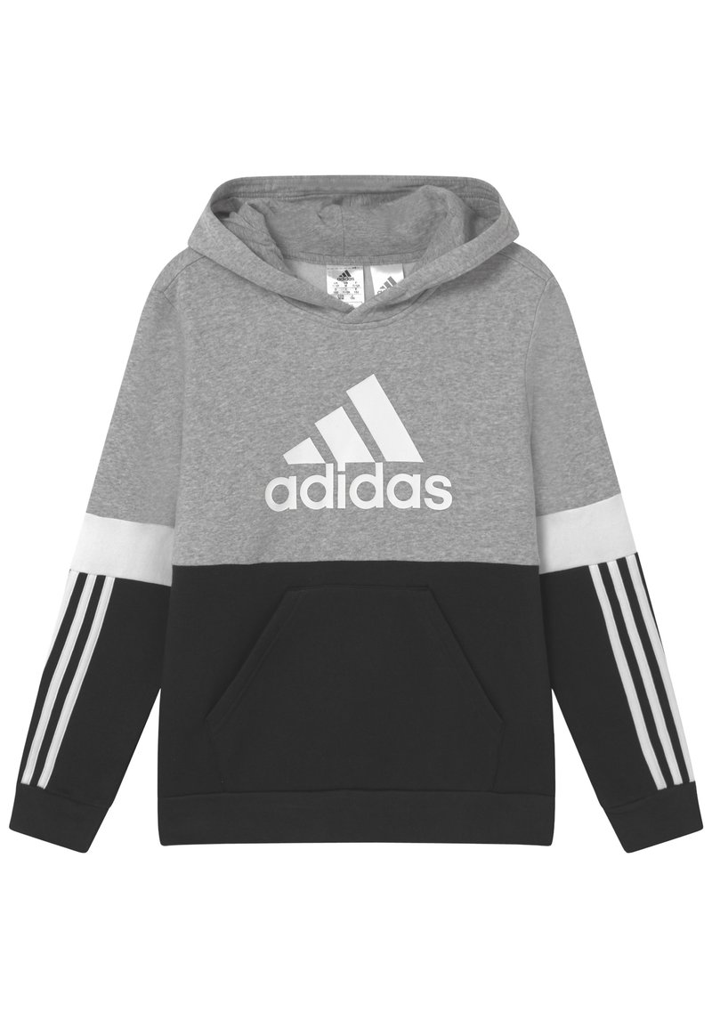 adidas Performance - COLORBLOCK ESSENTIALS - Sweat à capuche - black medium grey heather white