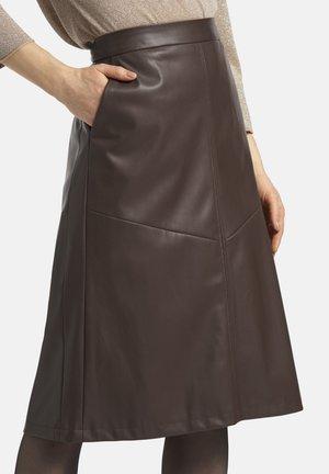 A-line skirt - dunkelbraun