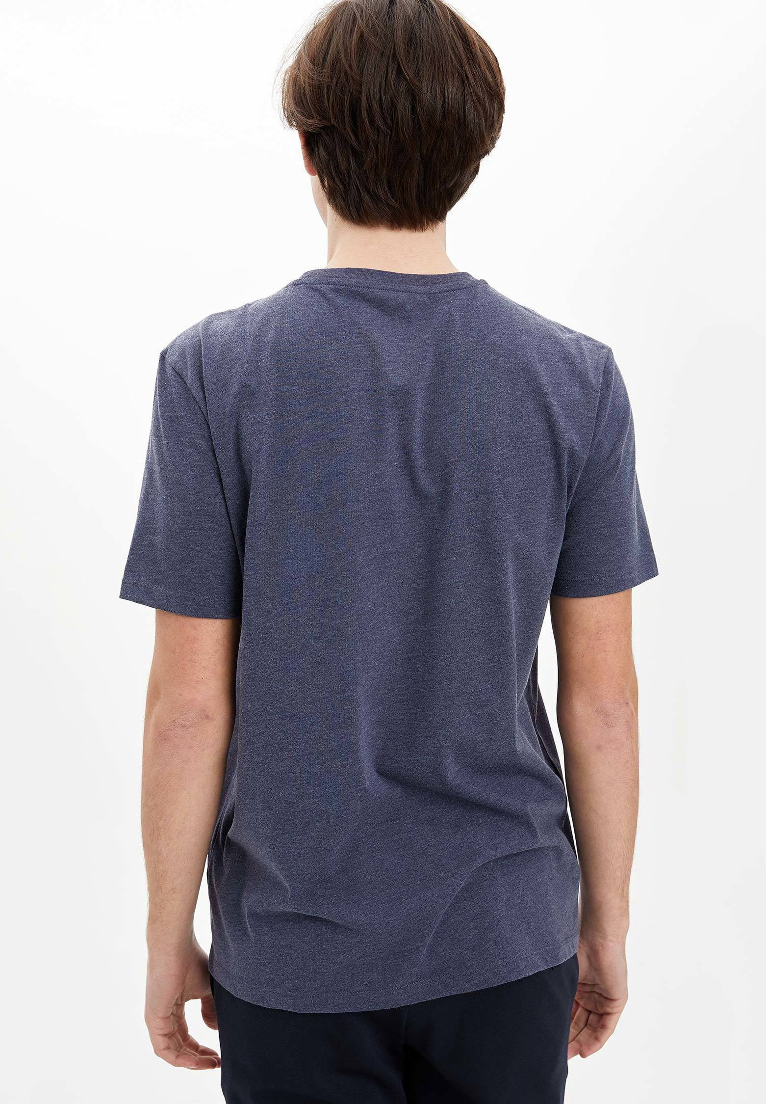 DeFacto Basic T-shirt - navy QyUnM