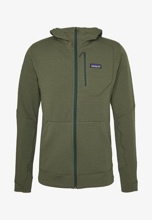 HOODY - Fleece jacket - industrial green