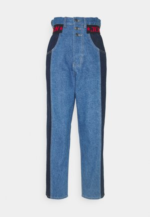 PAPERBAG WAIST PANELLED WITH ELASTIC WAIST - Relaxed fit jeans - multi