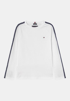 HILFIGER GLOW TAPE TEE - Maglietta a manica lunga - white