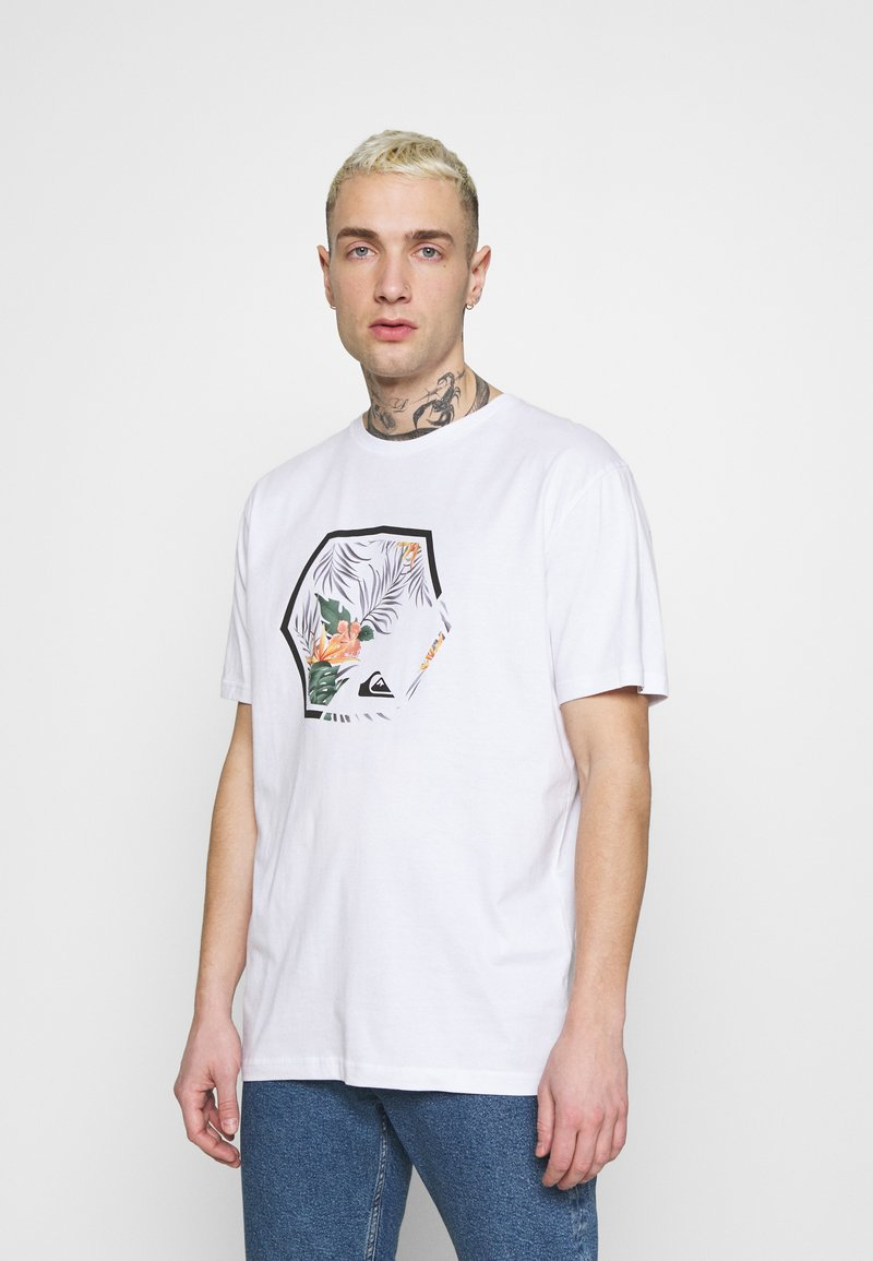Quiksilver - FADING OUT  - T-shirt con stampa - white