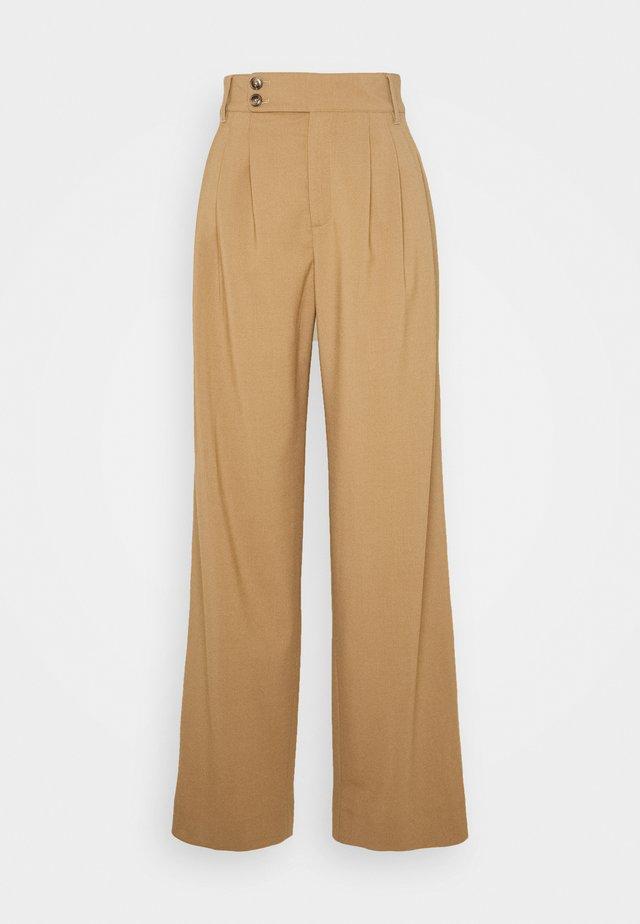 NORA - Spodnie materiałowe - honey