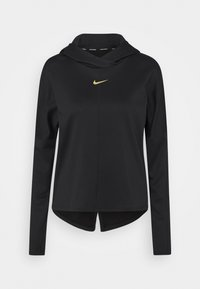 Nike Performance - Sports shirt - black/metallic gold - 0
