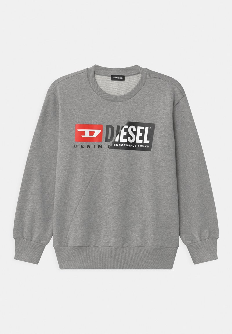 Diesel - SGIRKCUTY OVER UNISEX - Sweatshirts - grigio melange nuovo