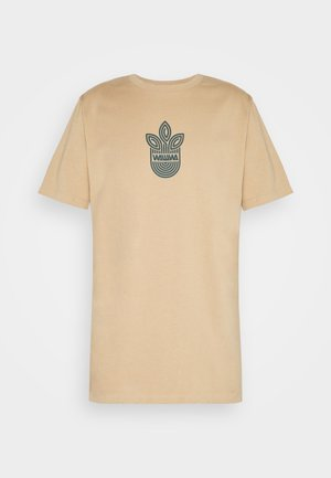 LEAF LOGO UNISEX - Print T-shirt - sand