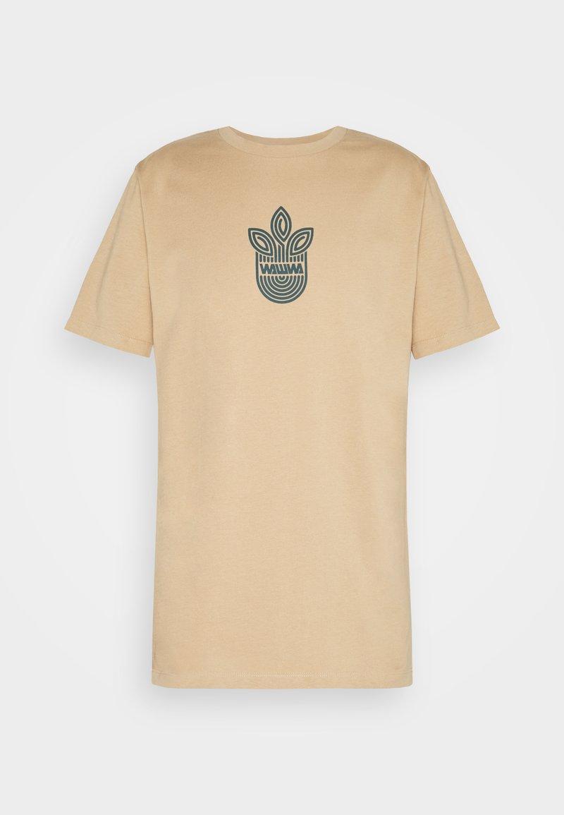 WAWWA - LEAF LOGO UNISEX - Camiseta estampada - sand