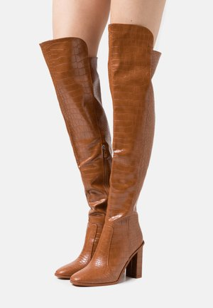 CYNTHIA - High heeled boots - brown