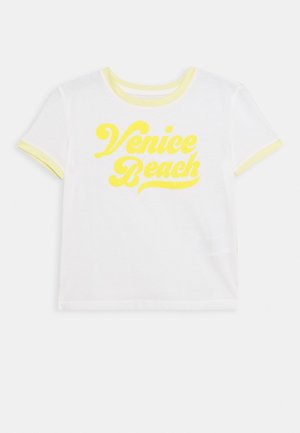 GIRLS BOXY - Print T-shirt - new off white
