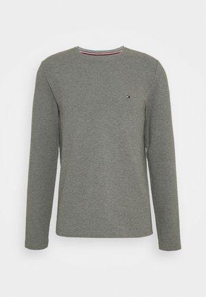 WAFFLE LONG SLEEVE TEE - Långärmad tröja - dark grey heather